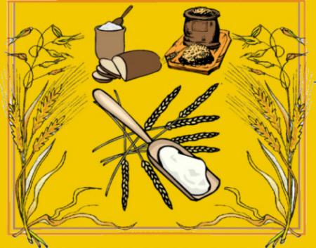 Spitze der Getreidesorten