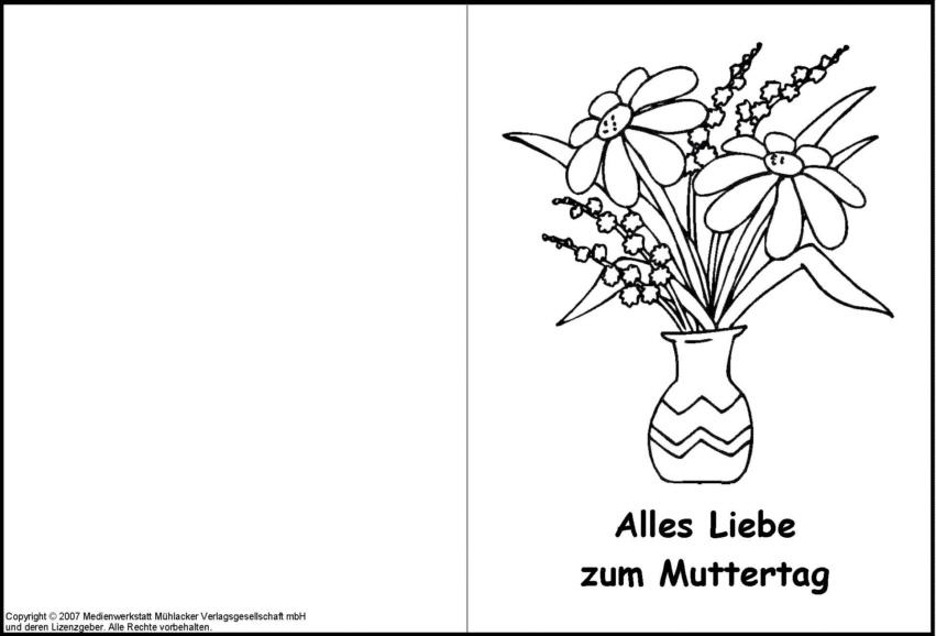 Großartig Mütter Tag Karten Vorlagen Bilder - Dokumentationsvorlage ...