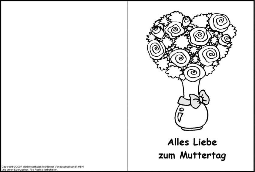 Niedlich Karten Zum Ausmalen Und Drucken Zeitgenössisch ...