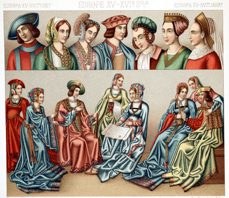 Fashion 2017 europe - Mode Und Kleidung Im 15 Und 16 Jahrhundert In Europa
