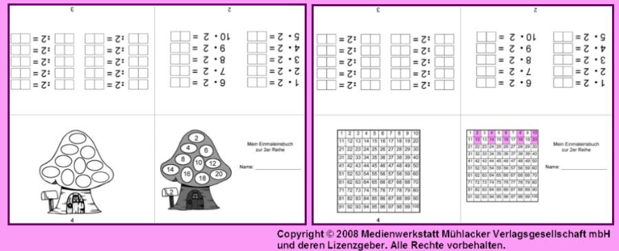 Kleines Einmaleins Tabelle  kostenlose Lernhilfe