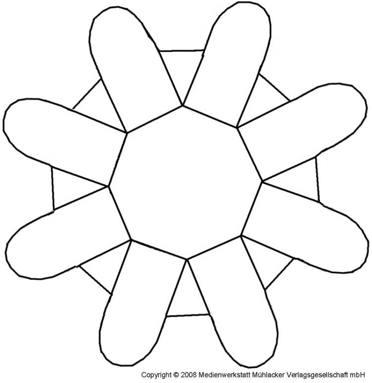 Osterkörbchen Basteln Vorlage eine papierblume als osterkörbchen bastelvorlage medienwerkstatt