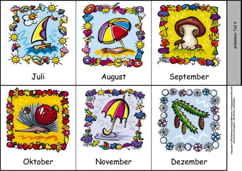 Leporello zu den zwu00f6lf Monaten 1 (Farbige Abbildungen ...