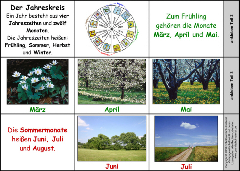 monate deutsch als fremdsprache