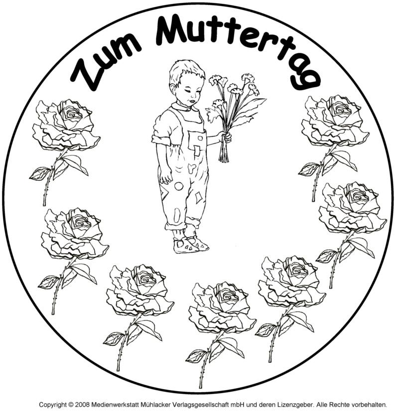 Mandala zum Muttertag 2 - Medienwerkstatt-Wissen © 2006-2017 ...
