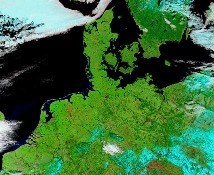 Satellitenaufnahmen Deutschland