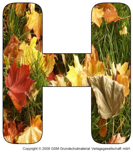 HerbstDEKOBuchstaben G und H  MedienwerkstattWissen