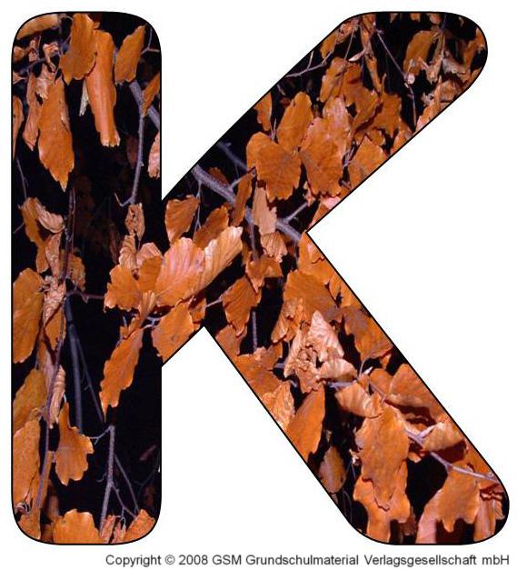 HerbstDEKOBuchstaben K und L  MedienwerkstattWissen