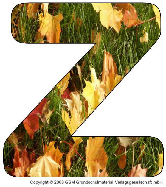 Die Herbst Deko Buchstaben Sind Zum Ausdrucken Bestimmt