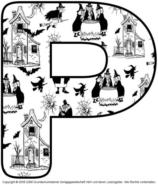 Halloween Deko Buchstabe P Medienwerkstatt Wissen 2006 2017