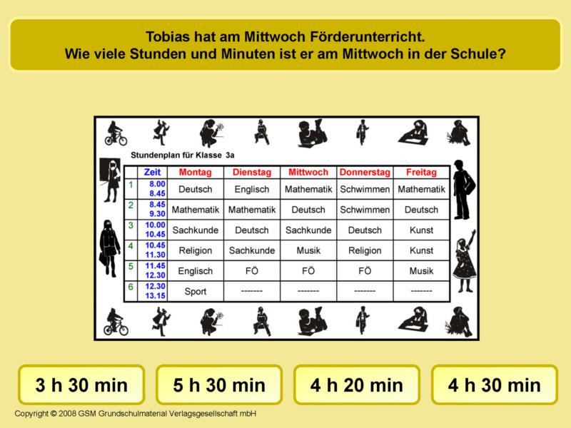 Zeitspannen am Stundenplan 4 - Medienwerkstatt-Wissen © 2006-2017 ...