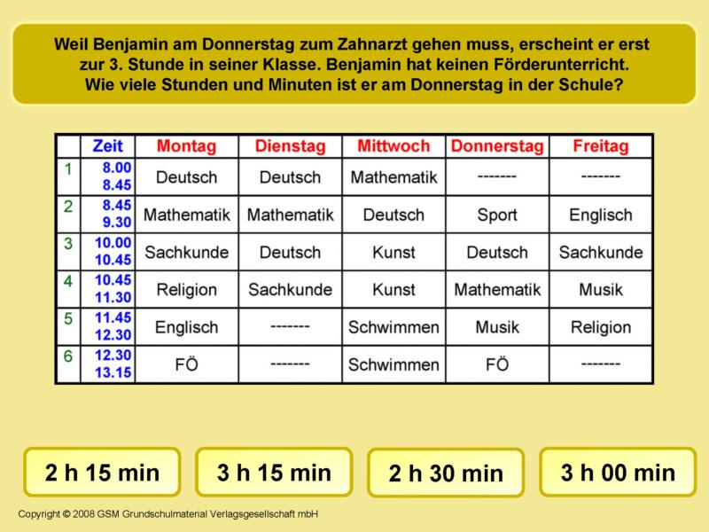 Zeitspannen am Stundenplan 10 - Medienwerkstatt-Wissen © 2006-2017 ...