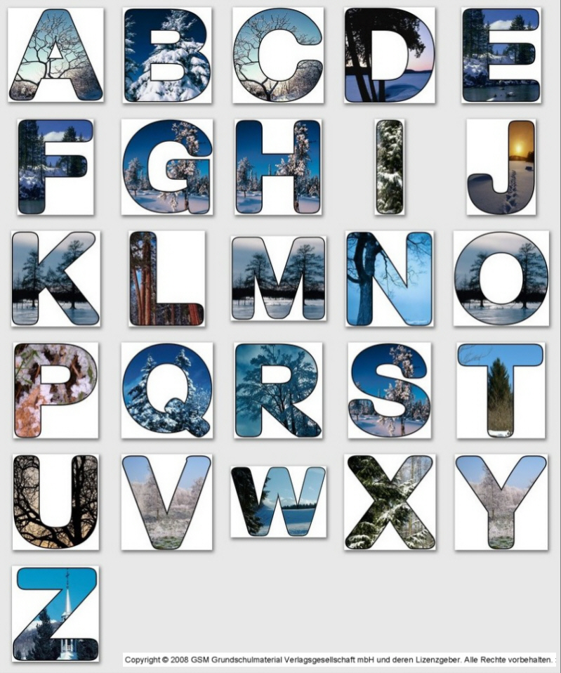 A to Z Alphabet Letters PNG Images  PNG Only