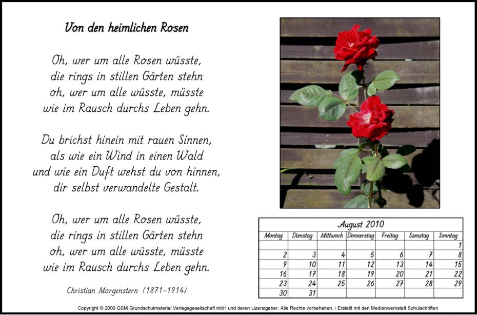 Gedicht-Kalender: August 2010 - Medienwerkstatt-Wissen © 2006-2015 ...