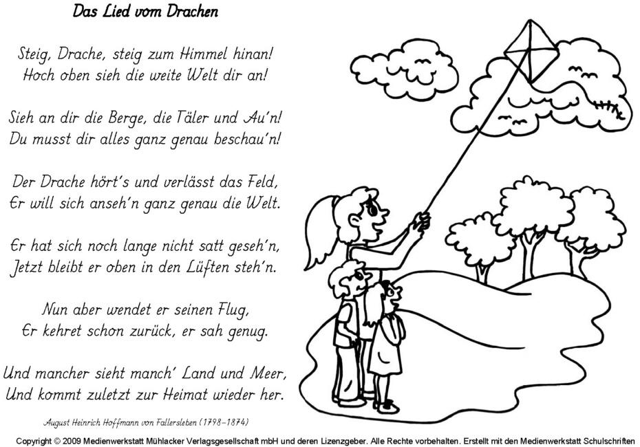 Das Lied vom Drachen (A. H. H. von Fallersleben) - Medienwerkstatt ...