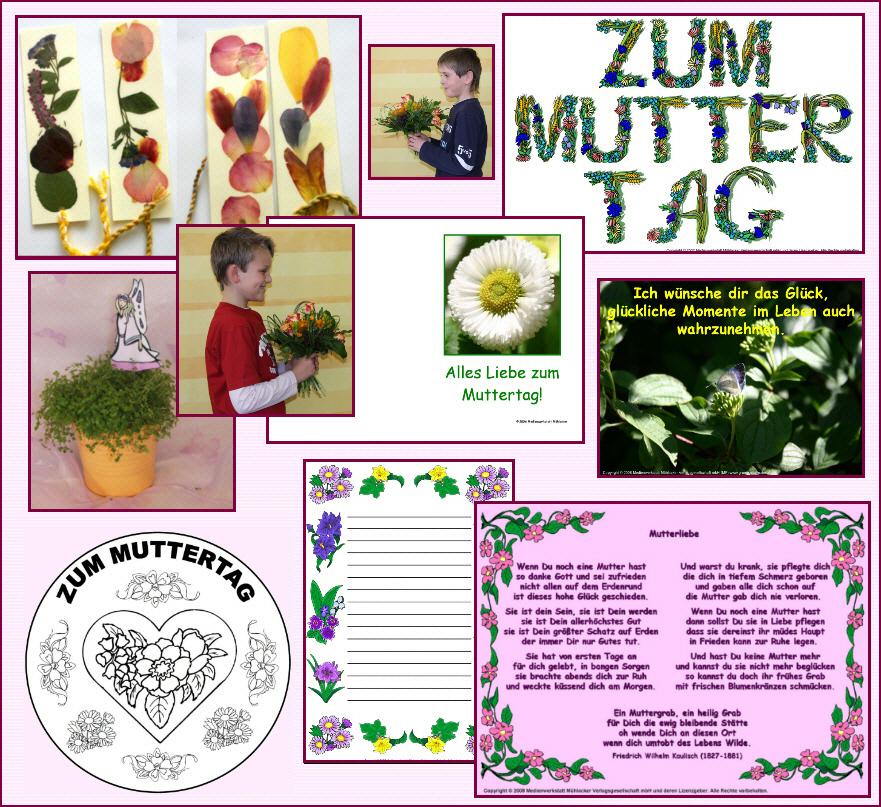 Gedichte zum muttertag bastelideen schmuckrahmen faltb cher medienwerkstatt wissen - Muttertagsgeschenke kindergarten ...