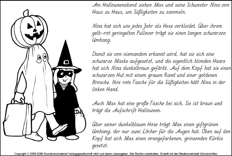 Lese-Mal-Blatt Halloween 2 - Medienwerkstatt-Wissen © 2006-2017 ...