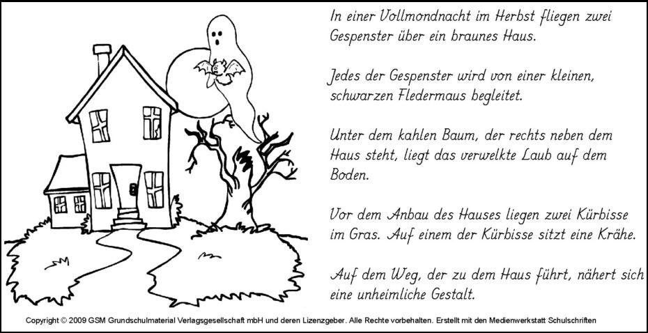 Lese-Mal-Blatt Halloween 3 - Medienwerkstatt-Wissen © 2006-2017 ...