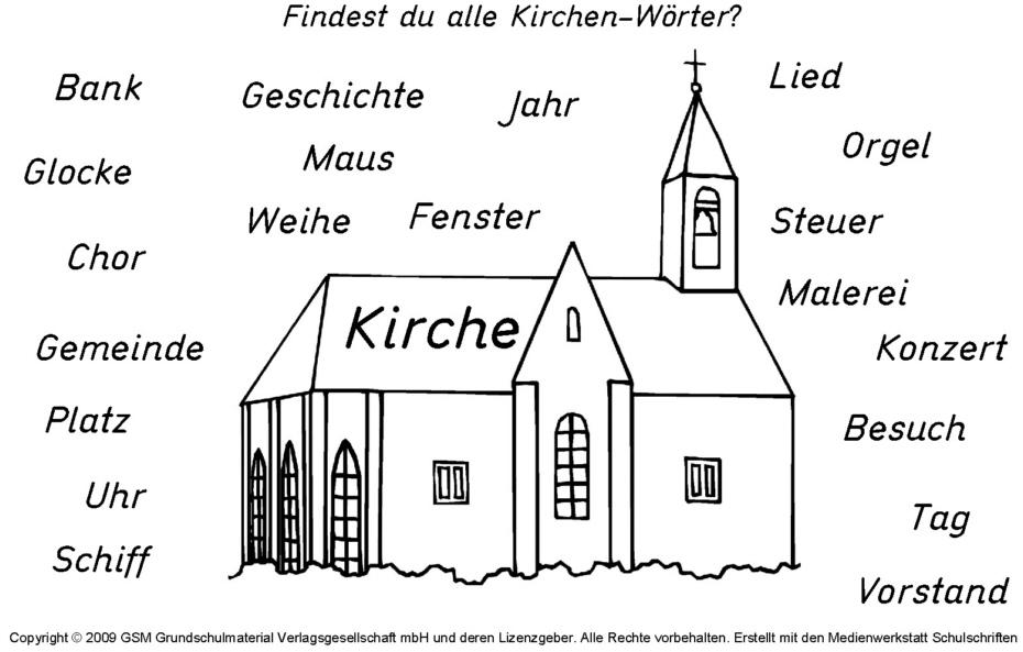 Erfreut Bilder Von Kirchen Zum Ausmalen Fotos - Druckbare ...