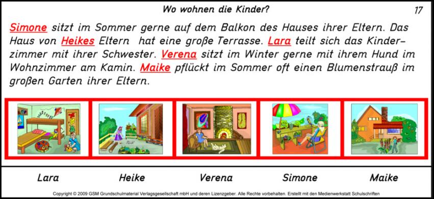 Wer lebt wo? - 17 Lu00f6sung - Medienwerkstatt-Wissen u00a9 2006 ...