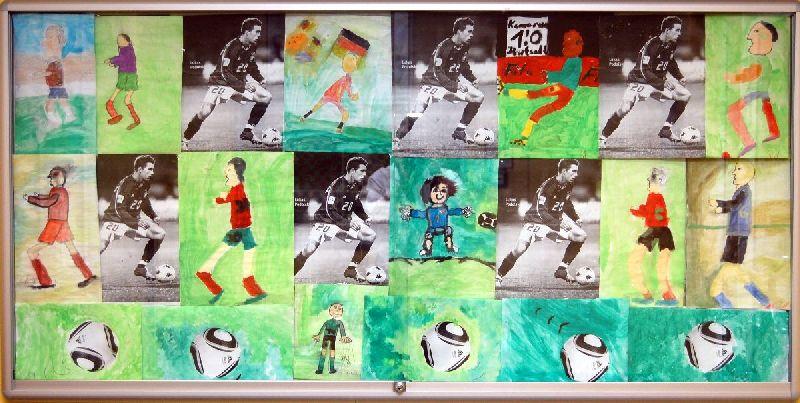 Während der fußball weltmeisterschaft 2010 malten die schüler einer