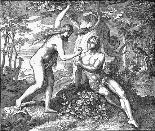Adam und Eva im Garten von Eden - Medienwerkstatt-Wissen © 2006-2017 Medienwerkstatt