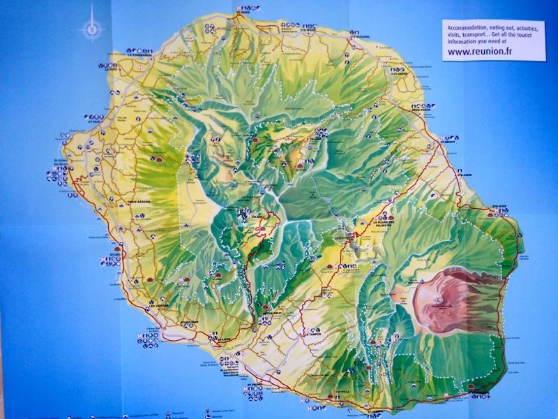 Karte Der Insel La Reunion Medienwerkstatt Wissen C 2006 2017
