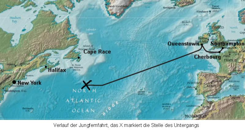 Karte Des Untergangs.Der Untergang Der Titanic Teil 4 Medienwerkstatt Wissen