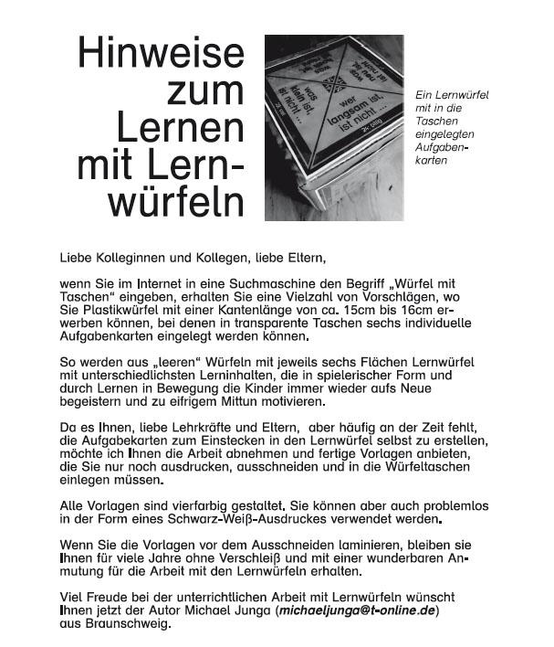 Kopfrechentraining mit dem Lernwürfel - Medienwerkstatt-Wissen ...
