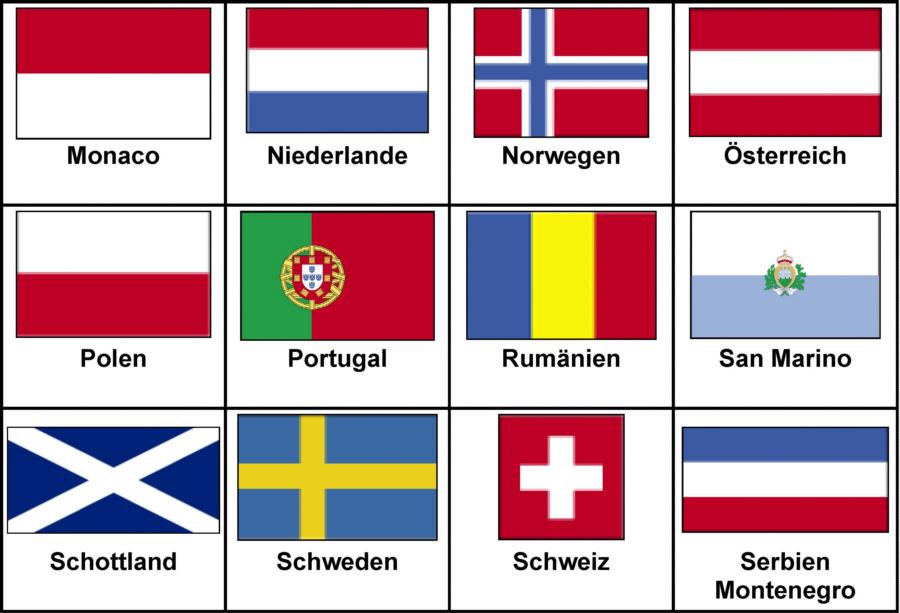 Länderflaggen Mit Namen
