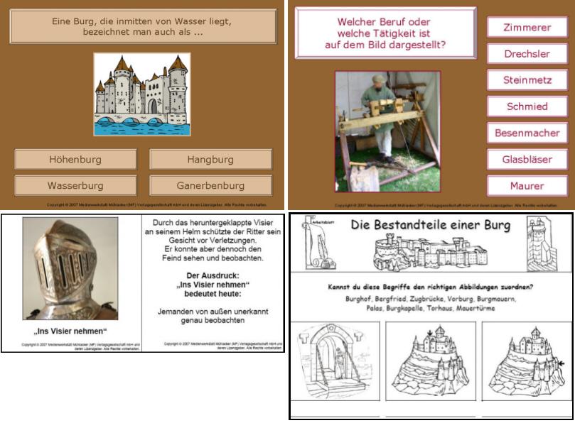 """Tischsitten Im Mittelalter Arbeitsblatt : Lehrerseite zum thema """"mittelalter ritterzeit"""