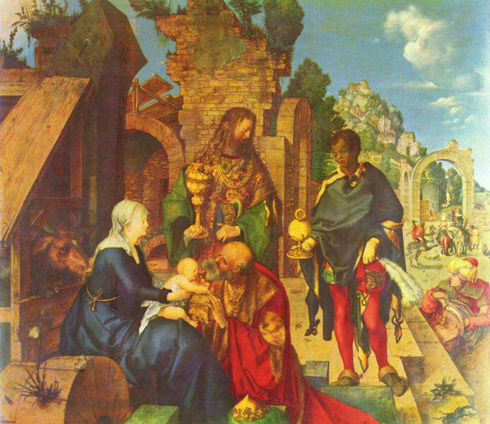 Weihnachten Wikipedia.Albrecht Dürer Die Anbetung Der Könige Medienwerkstatt Wissen
