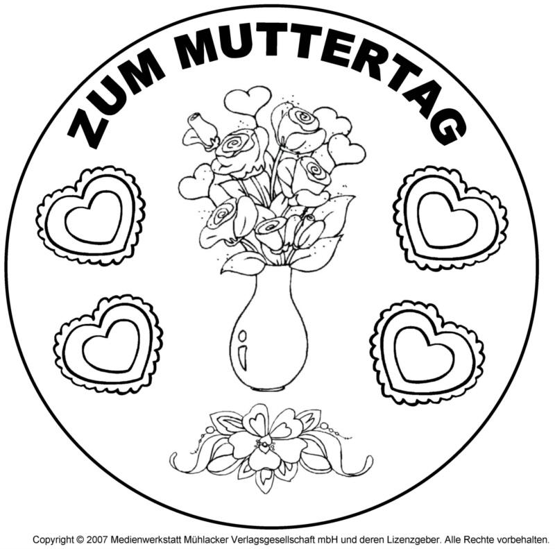 Mandala zum Muttertag 9 - Medienwerkstatt-Wissen © 2006-2017 ...