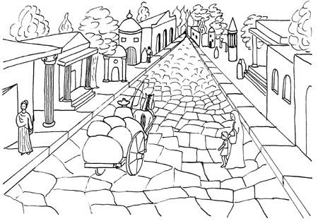 straßensystem im alten rom