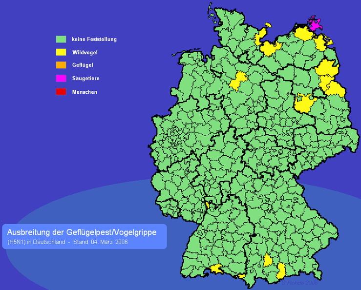 Vogelgrippe Karte