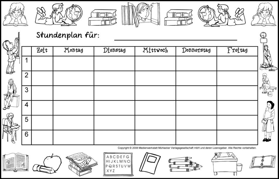 Fantastisch Monatliche Stundenplanvorlage Ideen - Beispiel ...