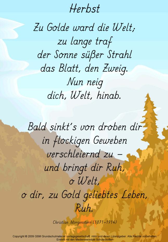 Herbst (Christian Morgenstern) - Medienwerkstatt-Wissen