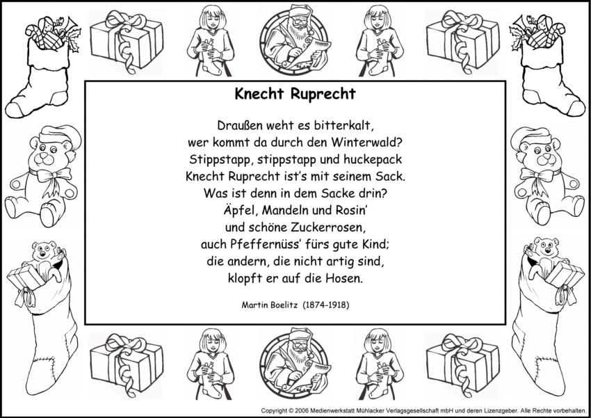Knecht Ruprecht Gedicht