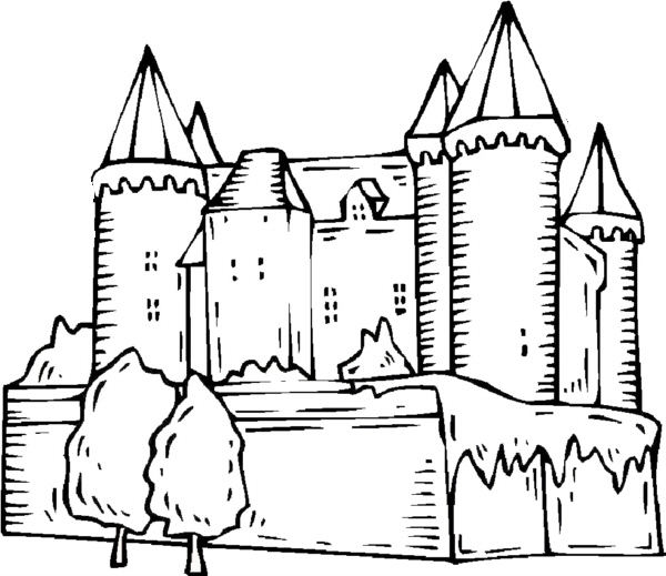 Umrisszeichnungen Von Burgen 2 Medienwerkstatt Wissen