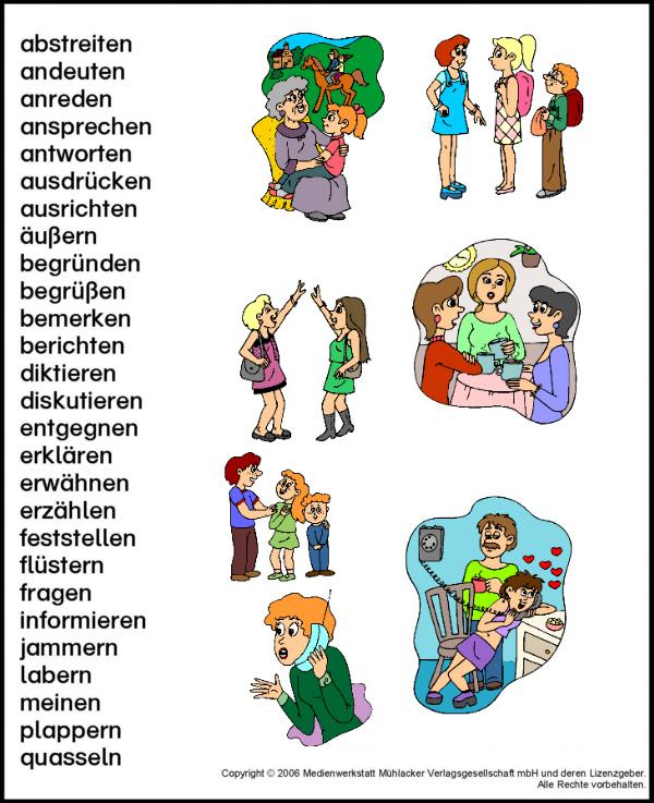 Wortfeld Sagen Sprechen Medienwerkstatt Wissen 2006