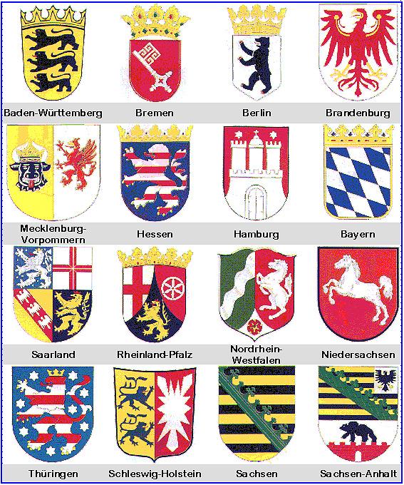 Deutschland Karte Bundesländer Schwarz Weiß.Die Wappen Der Bundesländer Medienwerkstatt Wissen 2006 2017