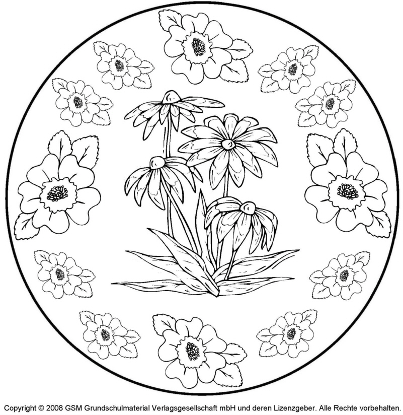 Blumen Mandala 2 Menwerkstatt