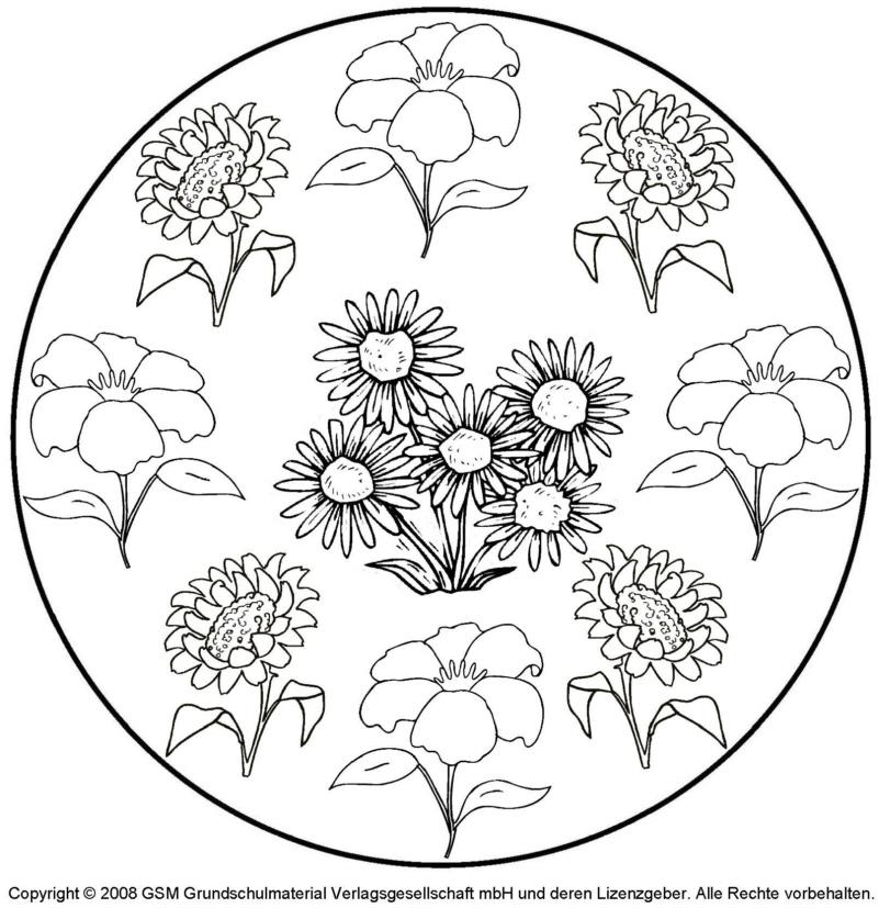 Blumen Mandala 1 Menwerkstatt