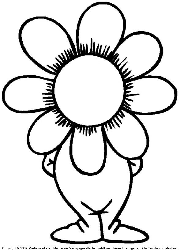 Blumenkind Mit Foto Bastelidee Für Klasse 1