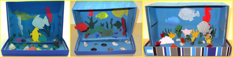 Basteln Mit Verpackungen Aquarium Im Schuhkarton Medienwerkstatt