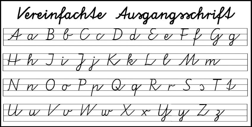 vereinfachte ausgangsschrift bayern