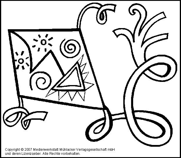ausmalbild drachen 4 - medienwerkstatt-wissen © 2006-2017