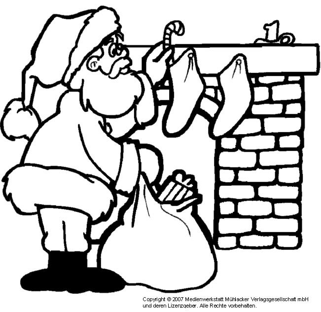 Zum Ausmalen Weihnachtsmann Medienwerkstatt Wissen 2006 2017