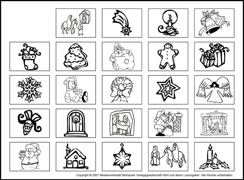 Adventskalender Bildervorlage 3 Zum Ausdrucken Medienwerkstatt