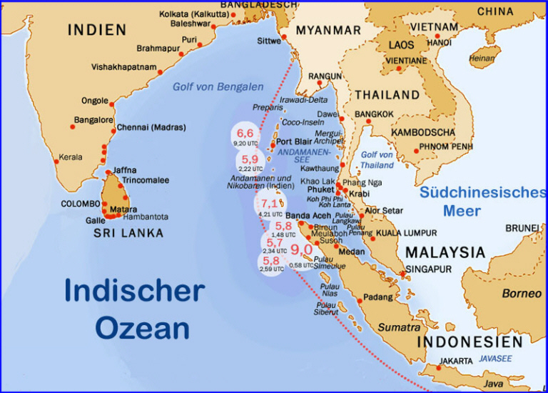 Tsunami 2004 Sri Lanka Karte.Die Tsunami Katastrophe Vom 26 12 2004 Medienwerkstatt Wissen